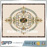 Het oppoetsen Ontwerp van het Medaillon van de Bevloering van de Straal van het Water het Marmeren