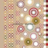 Plaid Pigment&Disperse des Kreis-100%Polyester druckte Gewebe für Bettwäsche-Set