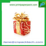 Rectángulo de regalo de papel de empaquetado del rectángulo del regalo del embalaje de la cartulina de Christma