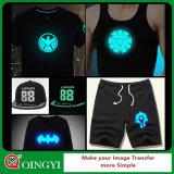 Qingyi Großhandelspreis-Glühen im dunklen Wärmeübertragung-Film für T-Shirt