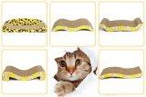 Brinquedos do gato da qualidade que riscam placa ondulada de Scratcher da almofada do cartão