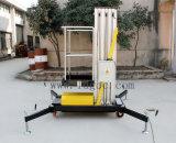 plataforma aérea hidráulica de aluminio 8meters (yellow&black GTWY8-100)