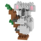 14889119-Micro Block Kit Ensemble de blocs d'animaux Set Creative Educational DIY Toy 120PCS - Elephant