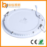 18W delgado de luz empotrada CE y RoHS certificados LED redondo Lámparas de techo de cubierta
