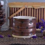 De ceramische Kruik van de Kaars met Unieke Afwerking