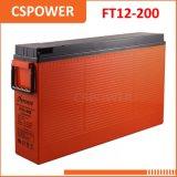 太陽記憶のためのFT12-200製造業者の前部ターミナル電池12V200ah