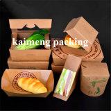 Contenitore a gettare di contenitore di carta del pacchetto del Kraft del commestibile (contenitore di contenitore di carta)