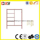 Het Frame/de Gang van de metselaar door het Systeem van de Steiger van de Bouw van het Frame/van het Frame van de Ladder