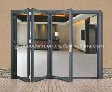 Puerta Bifold de cristal doble de aluminio de la rotura termal/el plegable/puerta de Bifolding