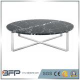 熱い販売の黒の自然な屋外の大理石の上のコーヒーかダイニングテーブル