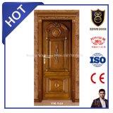 Matériau de porte en bois massif de l'intérieur porte en bois de position