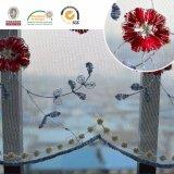 Africano Nobre colorido quente vendendo tecido de renda de flor C10005