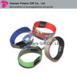 Bracelet polychrome promotionnel d'élastique d'impression de logo