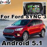Android 5.1 do GPS caixa de 4.4 navegações para a relação do vídeo da fusão da borda do escape da sincronização 3 Ecosport de Ford