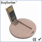 Eco-Friendly Round Slim Card Paper USB Drive 8 Go (XH-USB-077E)