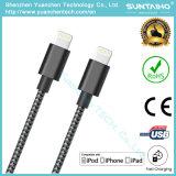 Tela de nylon trenzado Diseño Rayo rápida USB cable cargador para Iphon5 / 6/7