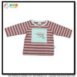 아기를 인쇄하는 줄무늬는 연약한 Handfeel 아기 t-셔츠를 입는다