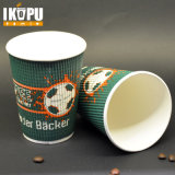 El papel para pared de impresión personalizada Kraft ondulación taza de té caliente