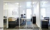 사무실 알루미늄 프레임 장님을%s 가진 조정 두 배 유리제 칸막이벽