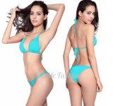 Großhandelsform-heißer Verkaufs-Badeanzug-weißer Bikini-reizvolle Dame Halter Swimwear