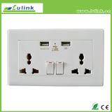 Plaque de mur intelligente de /USB de sortie de Lulink USB Socket/USB