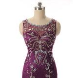 花嫁の紫色の母はサイズ2017のイブニング・ドレスと長いに服を着せる