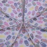 多彩な文字印刷を用いる極度の小型5つのフォールドの傘