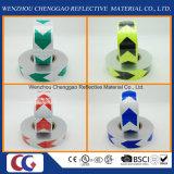 Bandes r3fléchissantes de PVC de visibilité de double de couleurs de flèche de modèle de peigne élevé de miel pour des véhicules