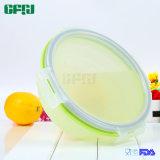 Riesiges rundes wasserundurchlässiges Verschluss-Nahrungsmittelgrad-Silikon-zusammenklappbarer Behälter für das Mittagessen, kampierend