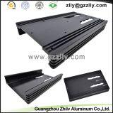 Disipador de calor de aluminio modificado para requisitos particulares para el bastidor del coche