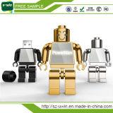 Azionamento della penna del USB del metallo del cuoio di promozione del campione libero