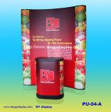 3X2 Forme droite / Curvy Pop Up Stand avec PVC Impression Extérieur Intérieur VITRINE Booth (PU-04-A)