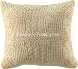 Tejer almohada cojín decorativo con cubierta de color sólido