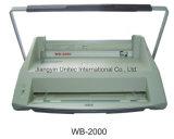 A4 Bindmiddel wb-2000 van Velo van de Machine van het Boek Bindend