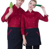 De Chef-kok van Workwear van de Herfst van de lang-Koker van de kok Eenvormig van Katoen