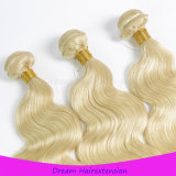 Weiches und glattes Haar-Karosserien-Wellen-Platin-blondes Haar der Farben-613# brasilianisches