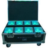 4*18W Rgabw紫外線電池式APP WiFi移動式LEDの同価ライト