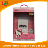 Embalagem de caixa de suspensão de papel para pequenos produtos personalizados com janela de PVC