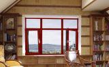 Finestra di vetro placcata di legno di alluminio della stoffa per tendine con la parte dell'arco
