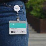 Etiqueta de identificación personalizada Divisa en blanco con correa