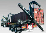 Semi-remorque Sidelifter ou Side Loader pour le chargement et le déchargement des conteneurs d'expédition sans la nécessité d'un chariot élévateur ou d'un autre équipement de manutention de conteneurs