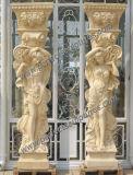 عمود رومانيّ مع حجارة رخام صوّان حجر رمليّ ([قكم118])