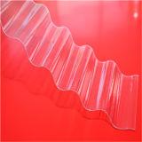 Folha ondulada do policarbonato da alta qualidade transparente