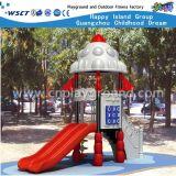 Parque Infantil exterior deslize com peças de desenhos animados do Espaço Exterior (HA-07301)