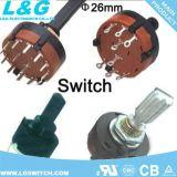 26mm OEM ODM 12 posiciones Mini Micro interruptor giratorio