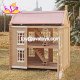 Dollhouse di legno bello delle ragazze di nuovo disegno da vendere W06A237
