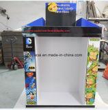 Cmyk impresso 1/2 palete display com ganchos metálicos para roupas para animais de estimação, papelão ondulado Pallet Display