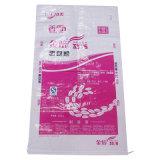 Sac en plastique tissé par pp 5kg 20kg 25kg pour l'emballage de riz