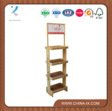 Customized 4 Layers Wood Display Rack Display de marca de pop