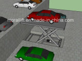2つのレベルのガレージの駐車車の上昇